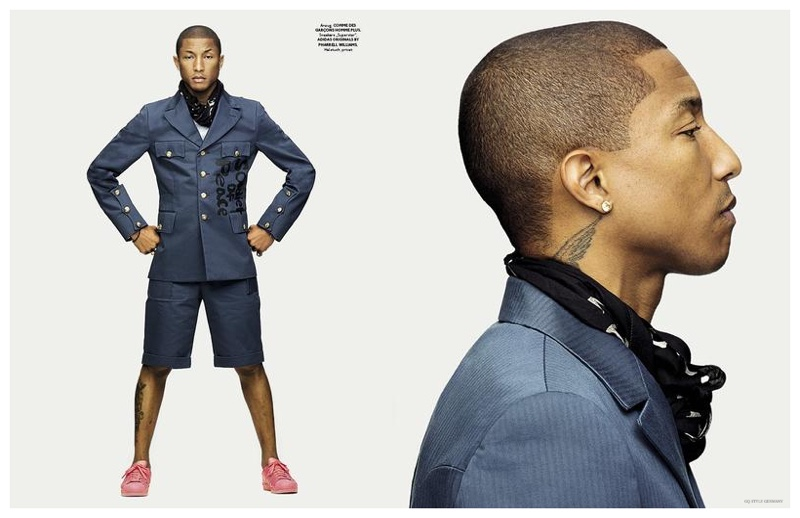 Pharrell Covers GQ Style Germany 2015 Issue, Photo Shoot ...