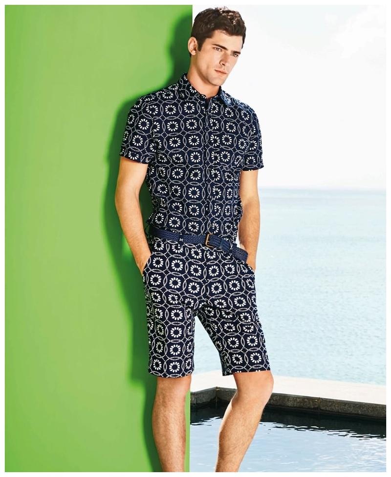 Sean O'Pry Wears Spring 2015 Next Styles