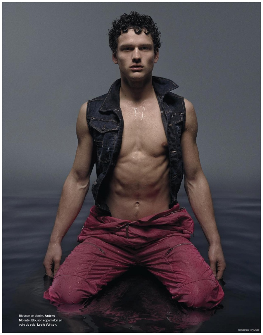 Simon Nessman Gets Wet for Stunning Numéro Homme Shoot