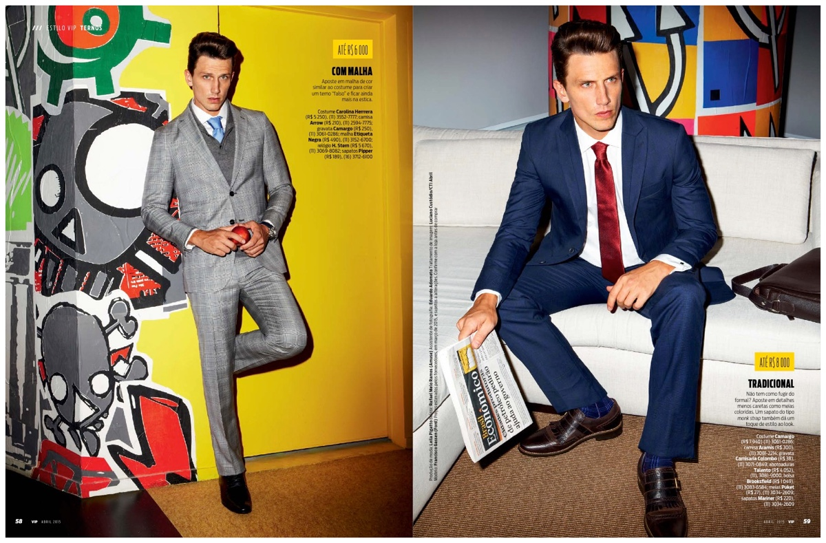 VIP Brazil Features Latest Suiting in April 2015 Issue