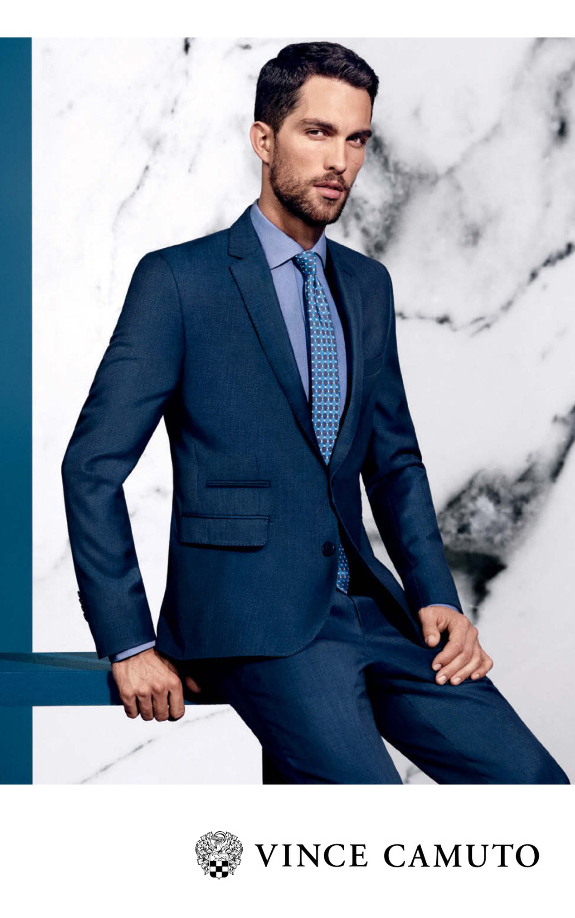 Model Tobias Sorensen for Vince Camuto spring-summer 2015 advertising campaign.