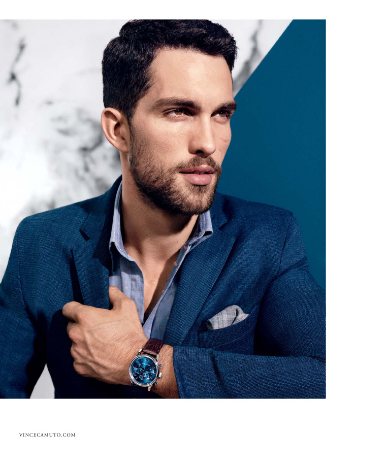 Tobias Sorensen shows off one of this season's Vince Camuto timepieces.