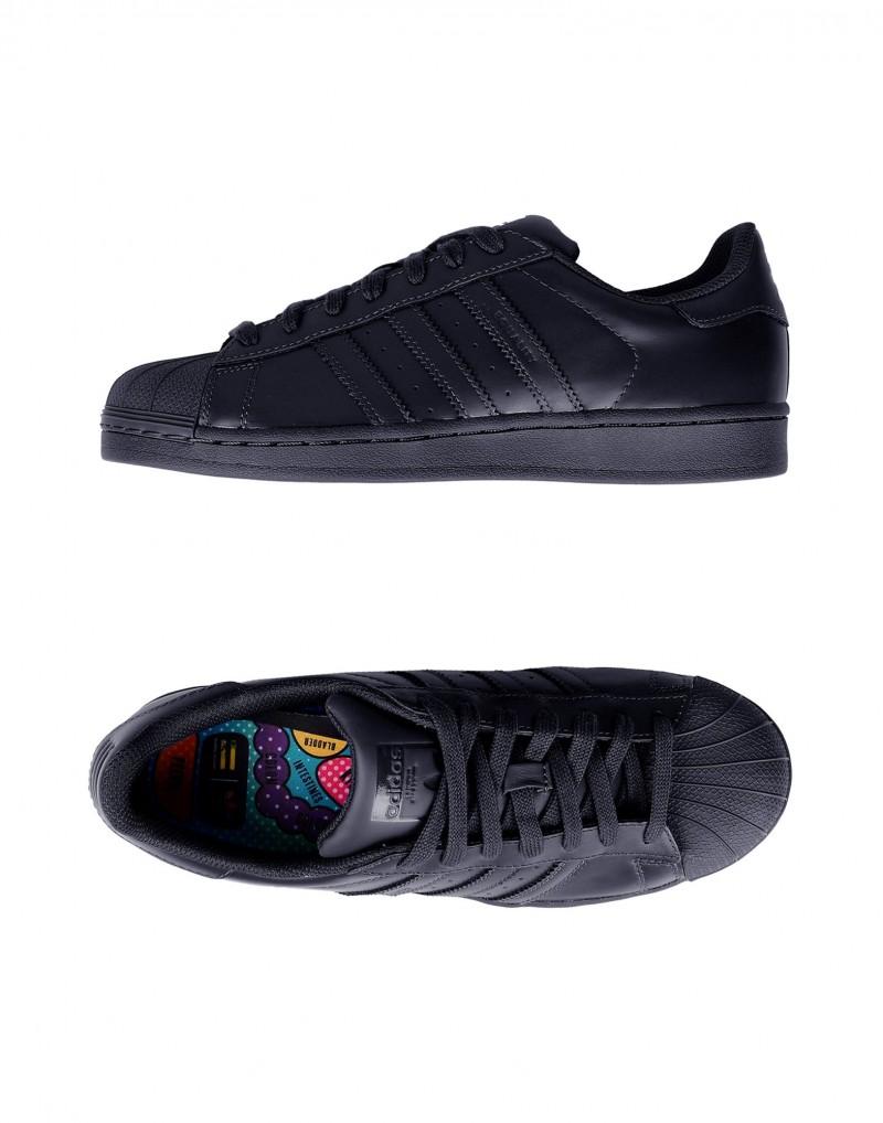 Adidas Originals x Pharrell Williams Superstar Supercolor Sneaker in Black