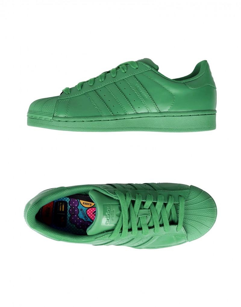 Adidas Originals x Pharrell Williams Superstar Supercolor Sneaker in Green