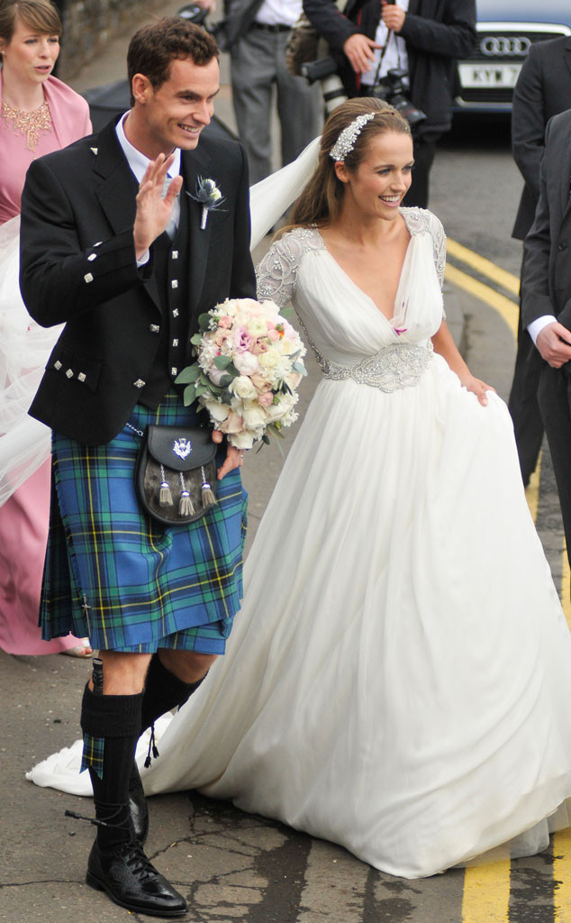 Andy Murray and Kim Sears pictured on their wedding day.