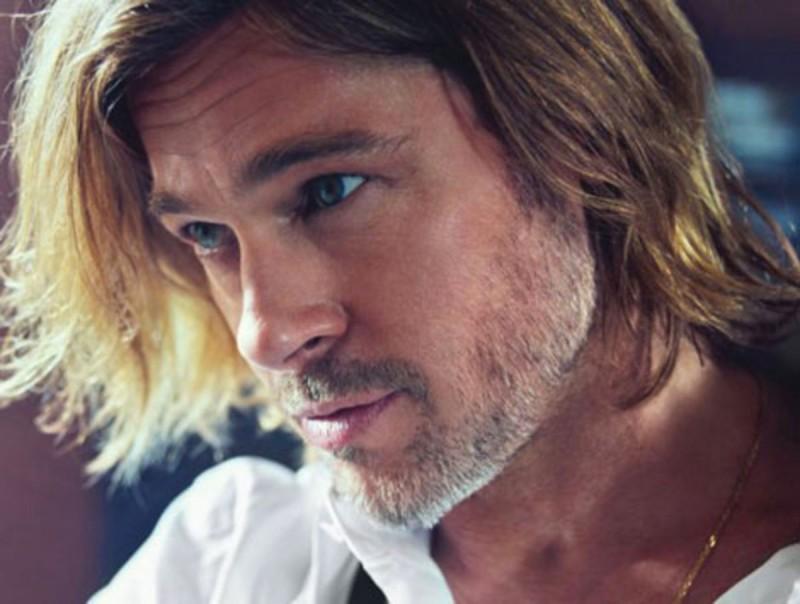 Brad Pitt poses for a close-up.