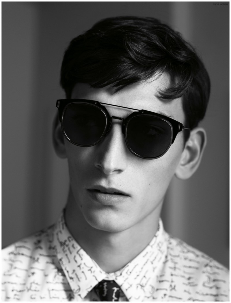 a707500d5e8 Dior Composit 1.0 Sunglasses worn with a Christian Dior print shirt from  Dior Homme s spring-