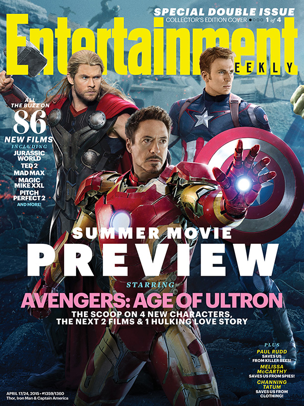 Thor, Iron Man and Captain America cover Entertainment Weekly
