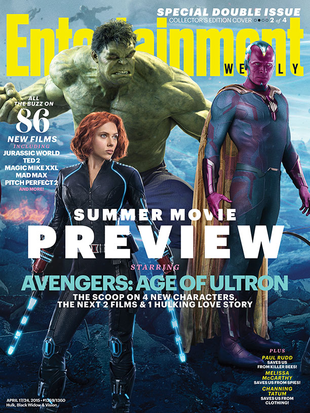 Black Widow, the Hulk and Vision cover Entertainment Weekly