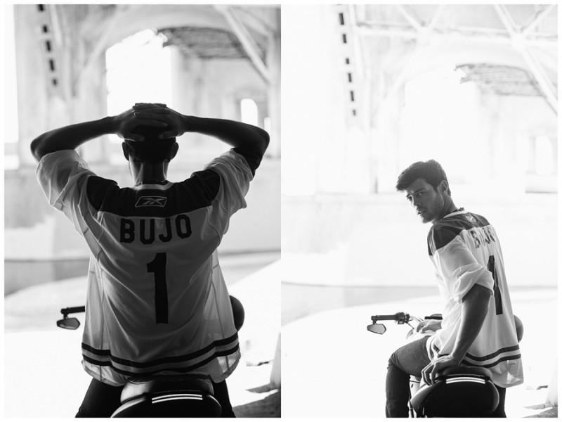 Felix Bujo gets sporty in a jersey.
