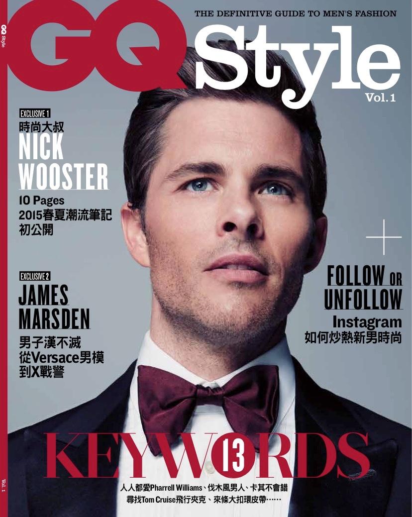 James Marsden Dons Tuxedo for GQ Style Taiwan Debut Cover Shoot