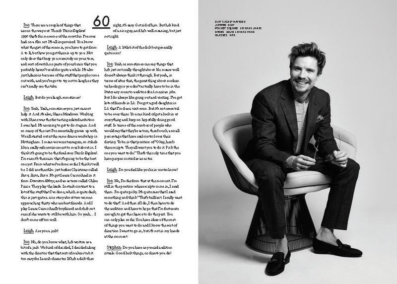 Joe Dempsie Appears in JON 2015 Photo Shoot | The Fashionisto
