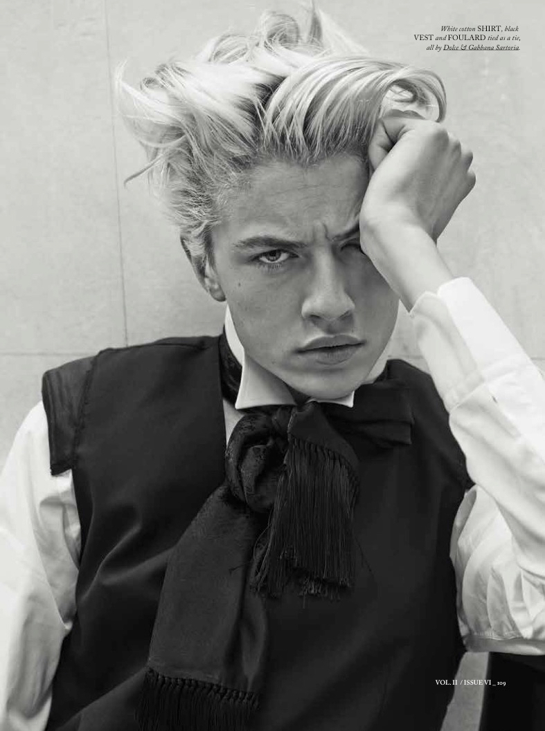 Lucky Blue Smith Goes Dandy in Dolce & Gabbana Sartoria for Hercules