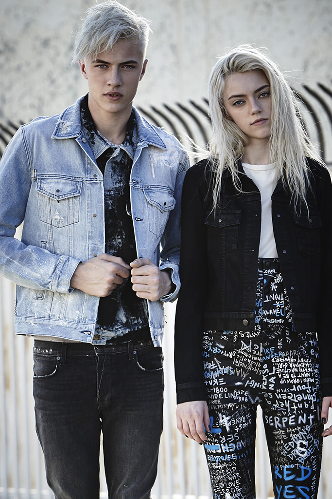Lucky and Pyper play it cool in Ksubi denim.