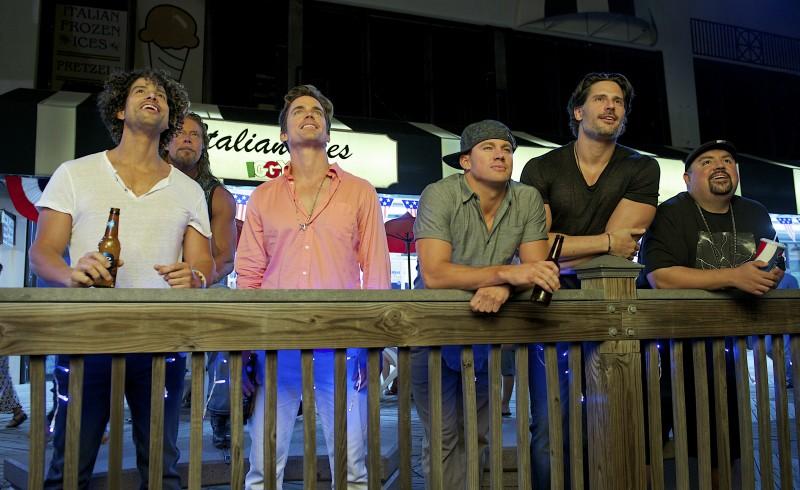 Magic Mike XXL castmates Adam Rodriguez, Matt Bomer, Channing Tatum and Joe Manganiello