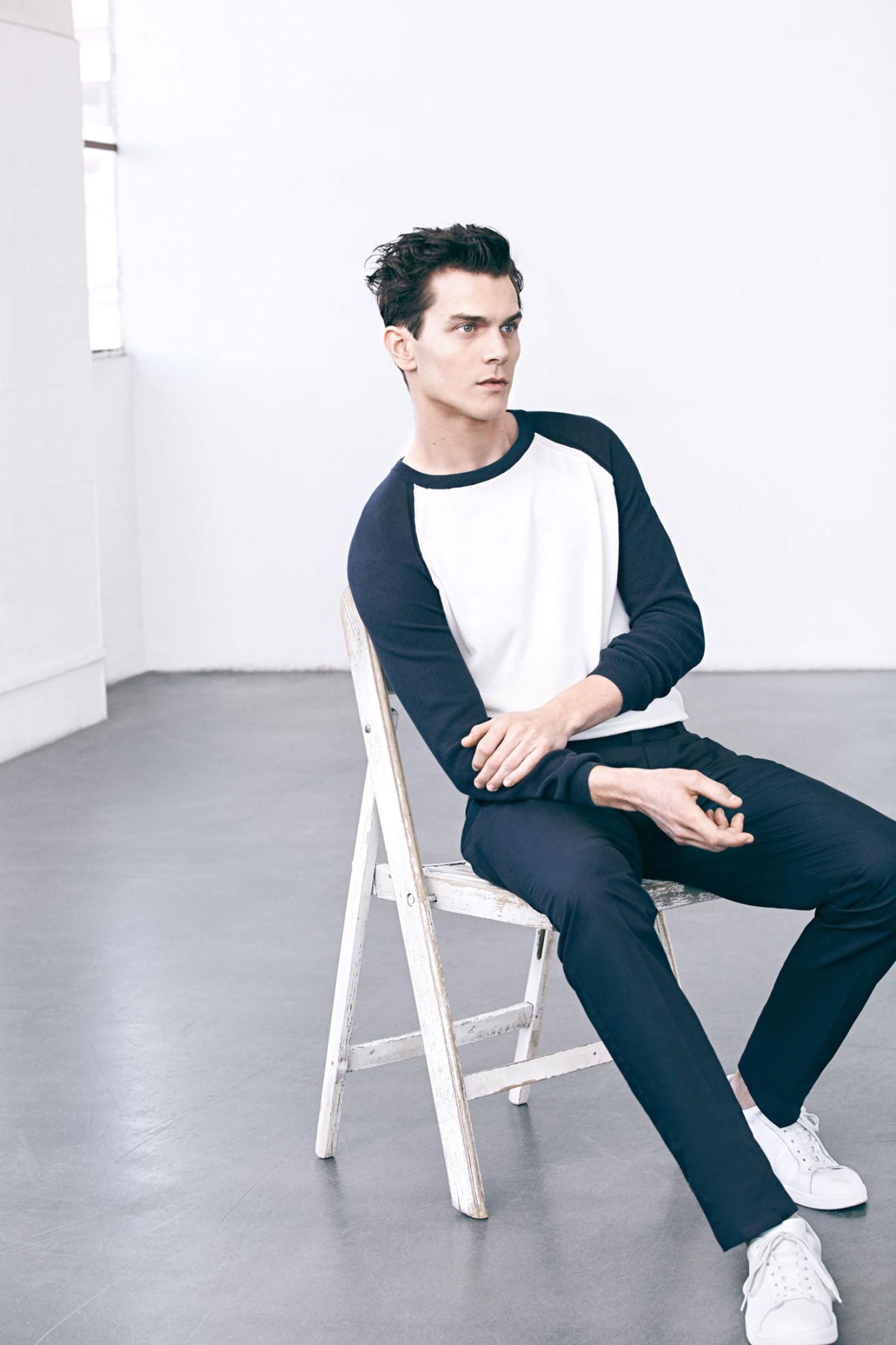 Vincent LaCrocq Models Navy Styles for Mango Men Spring 2015 Lookbook