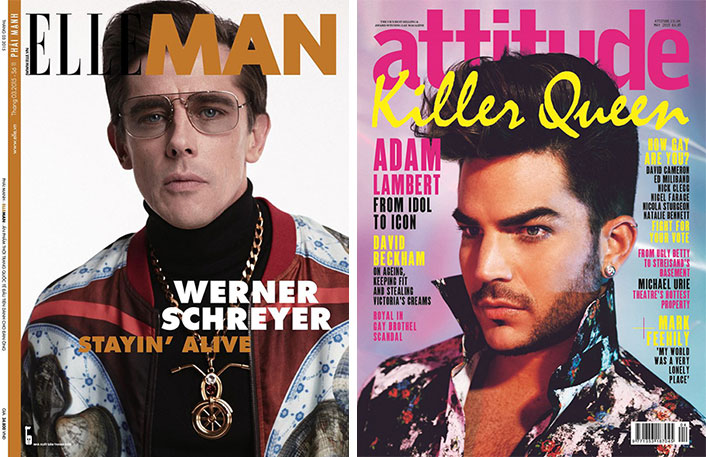 Covers: Adam Lambert Gets a Pompadour for Attitude, Werner Schreyer Channels 70s for Elle Man Vietnam + More