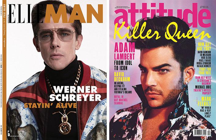 Covers: Adam Lambert Gets a Pompadour for Attitude, Werner Schreyer Channels 70s for Elle Man Vietnam + More