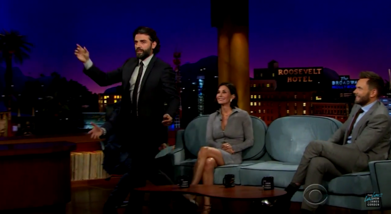 Oscar Isaac is the star attraction as he shows the audience his best disco moves.