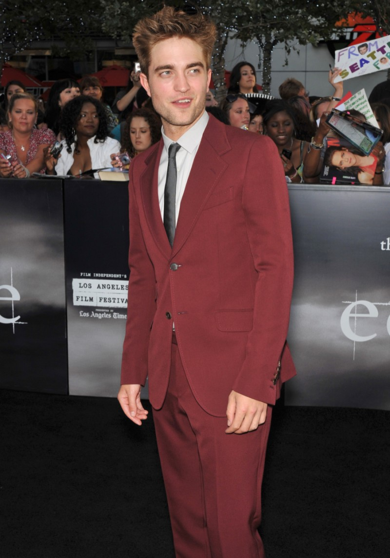 """Robert Pattinson at the premiere of his new movie """"The Twilight Saga: Eclipse"""" at the Nokia Theatre at L.A. Live. June 24, 2010 Los Angeles, CA."""