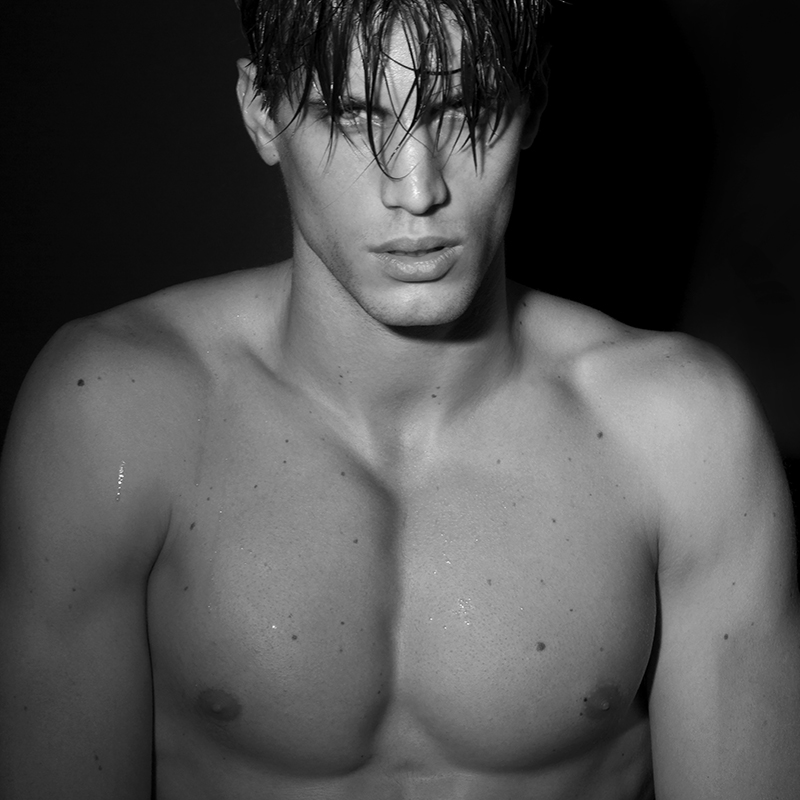 Santiago Ferrari Sports Wet Hair for Ruben Tomas Shoot