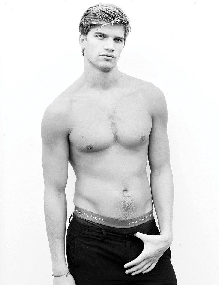 Rosie Huntington-Whiteley's Brother Toby Poses for Mario Testino 'Towel Series'