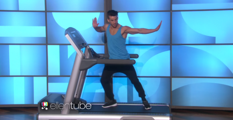 Carson Dean performs his treadmill routine on The Ellen DeGeneres Show.
