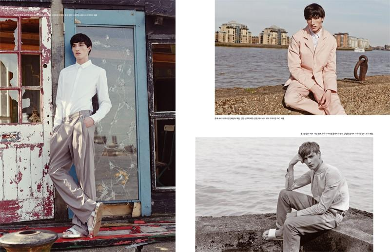 Jester White gets an injection of volume (left) while Ben Allen pictured lower right is chic in a neutral ensemble.