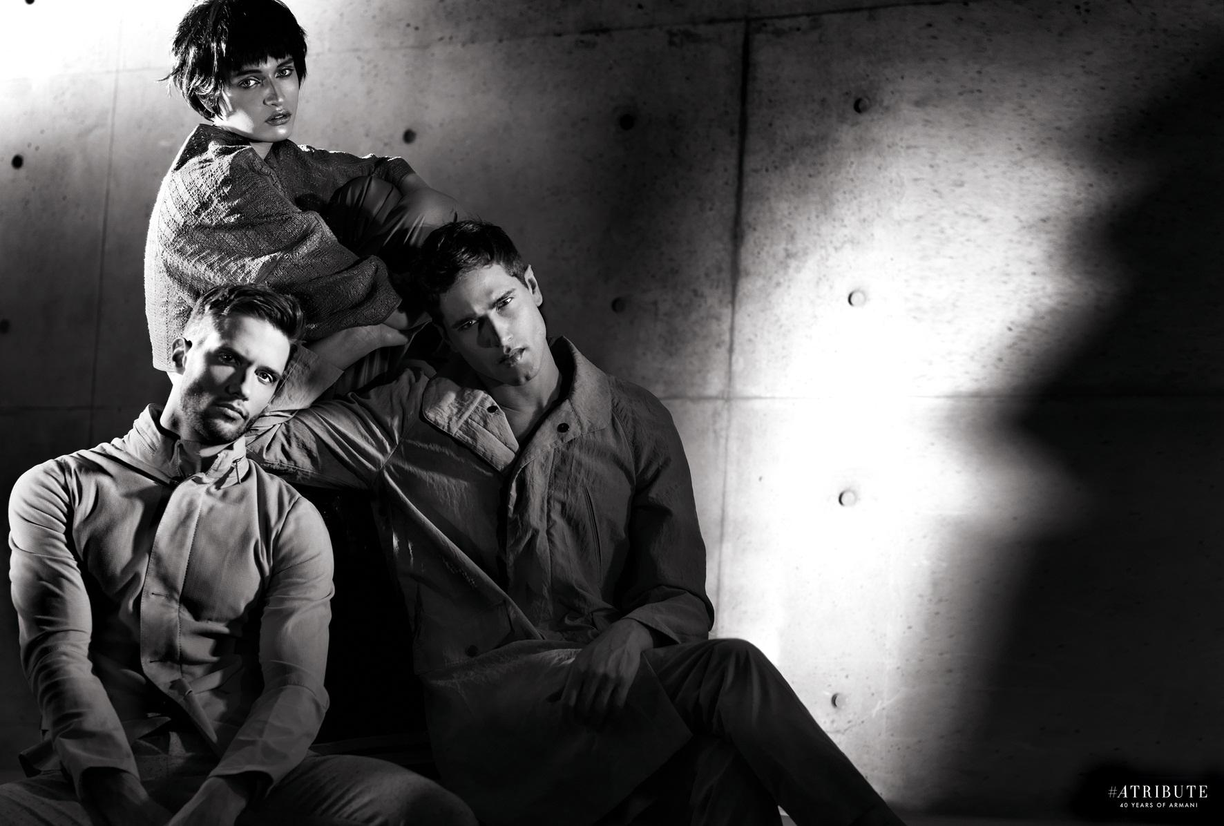 Armani Attitude: Fabio Mancini + Elia Cometti Star in Tribute
