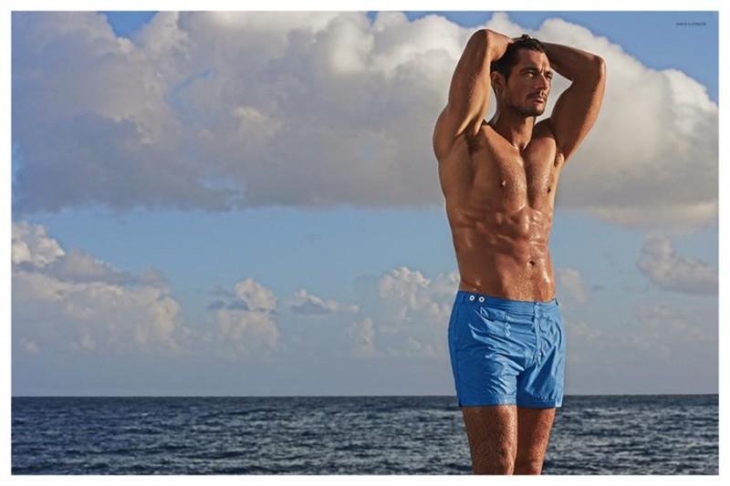 David Gandy Shirtless Swimwear Marks & Spencer