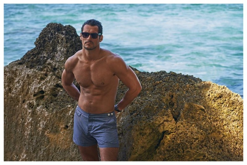 0bfdf1c53b9a0 David Gandy Shirtless Sunglasses David Gandy models swimwear for his new  Autograph collection at Marks and Spencer.