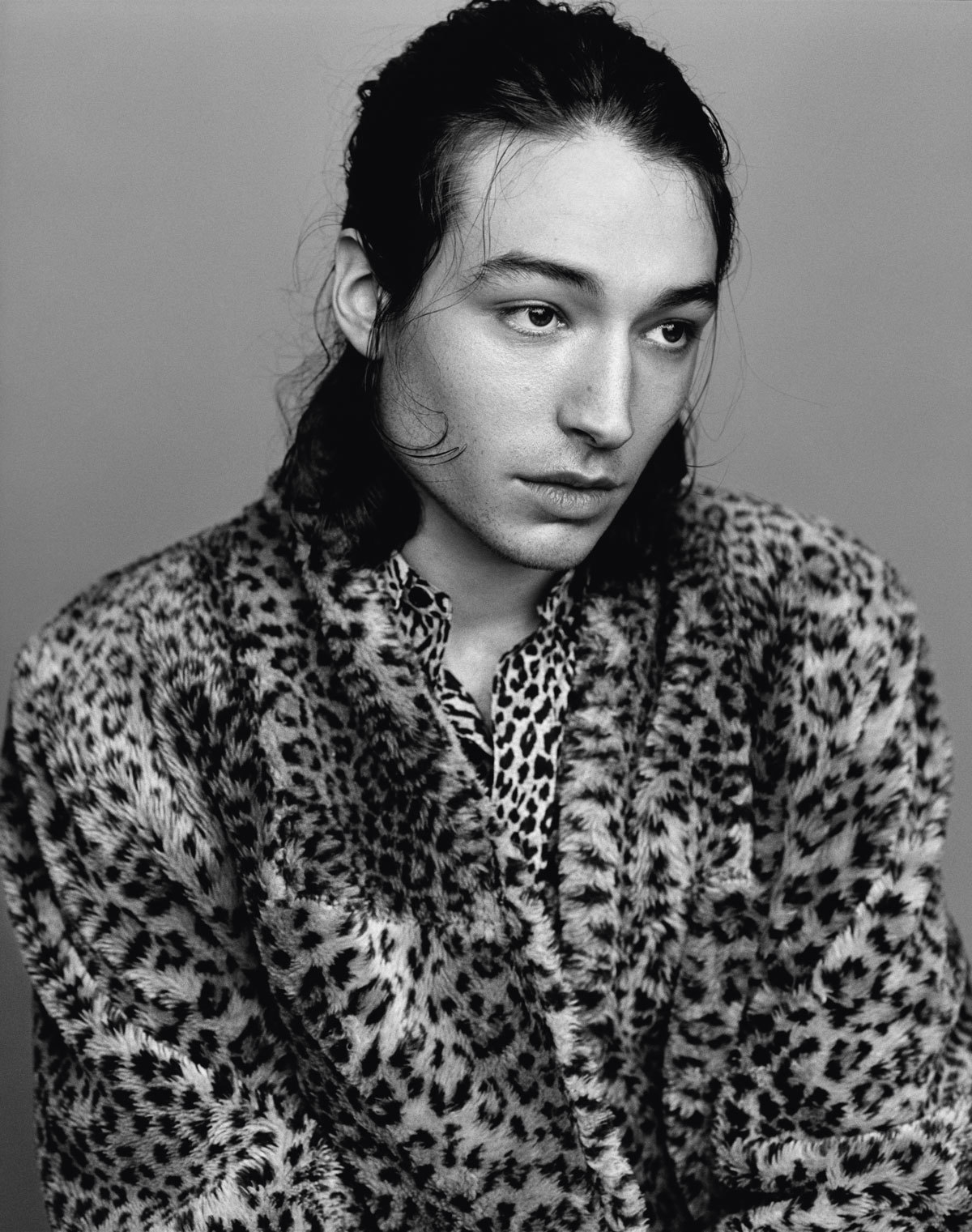 Ezra Miller Poses in Leopard for i-D, Talks Identifying as Queer