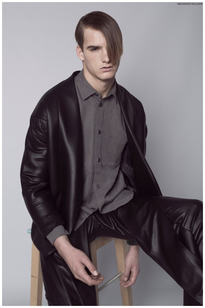 Rex wears shirt H&M, jacket and trousers Martin Lamothe.