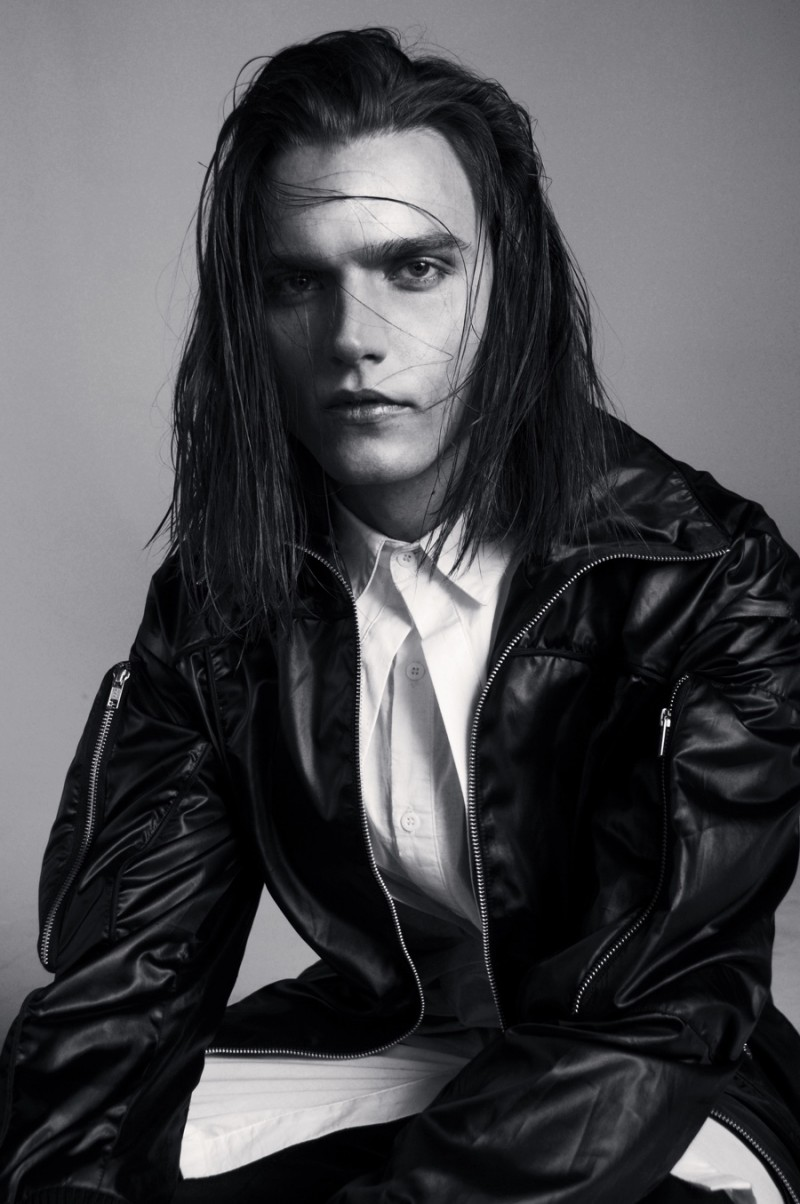 Alexey Glebko photographed by Hadar, wearing all clothes Skingraft.