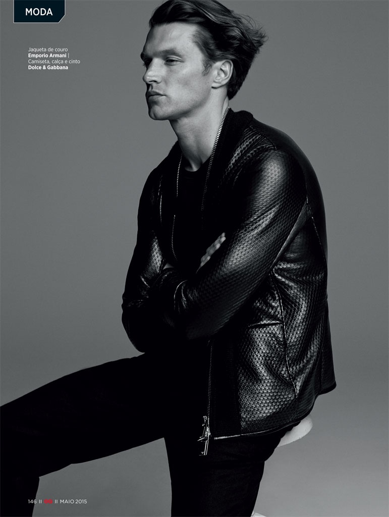GQ Brasil Does Leather + Coats for May 2015 Editorial