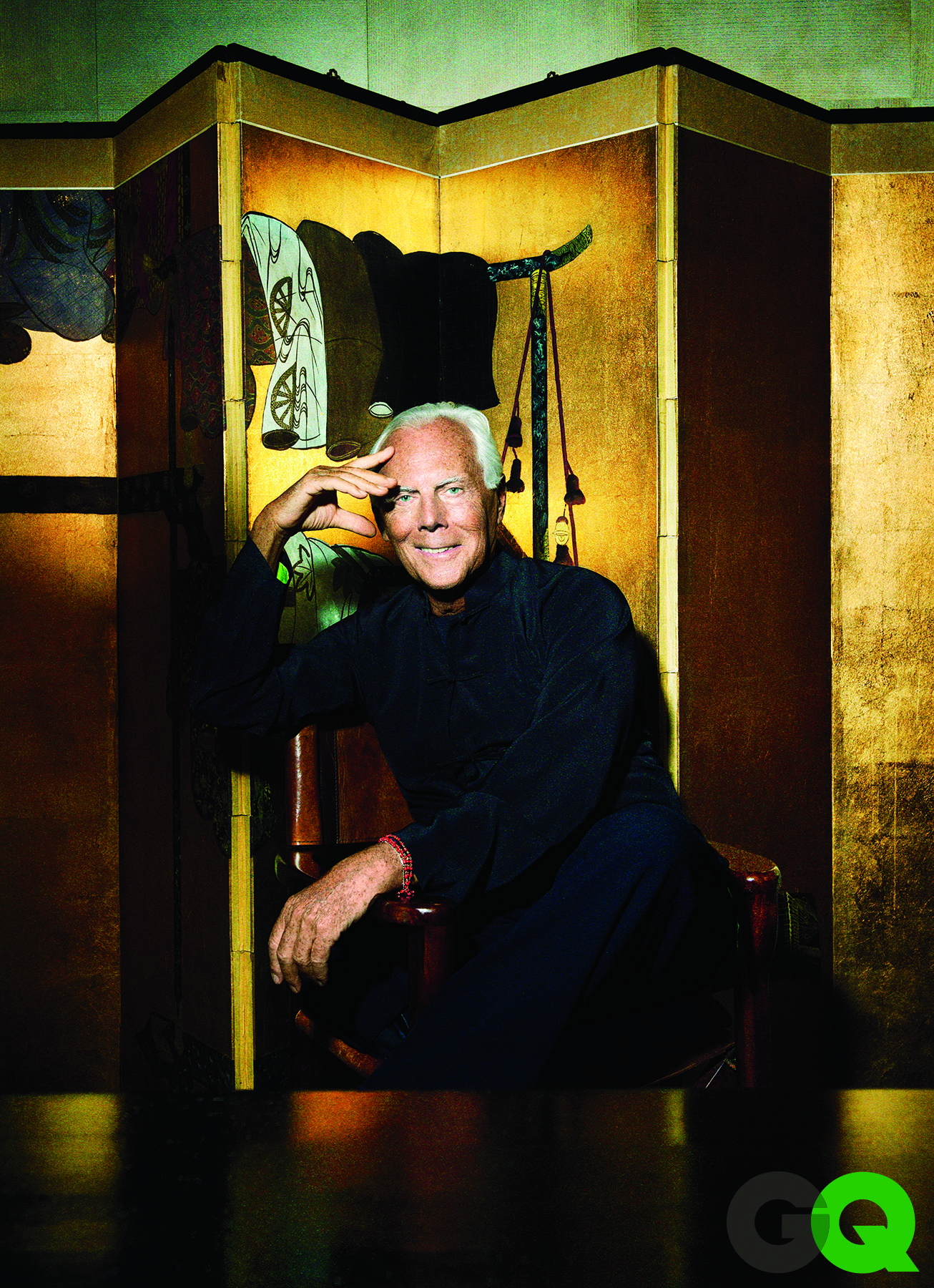 Giorgio Armani Poses for GQ, Talks Success + Partner Sergio Galeotti