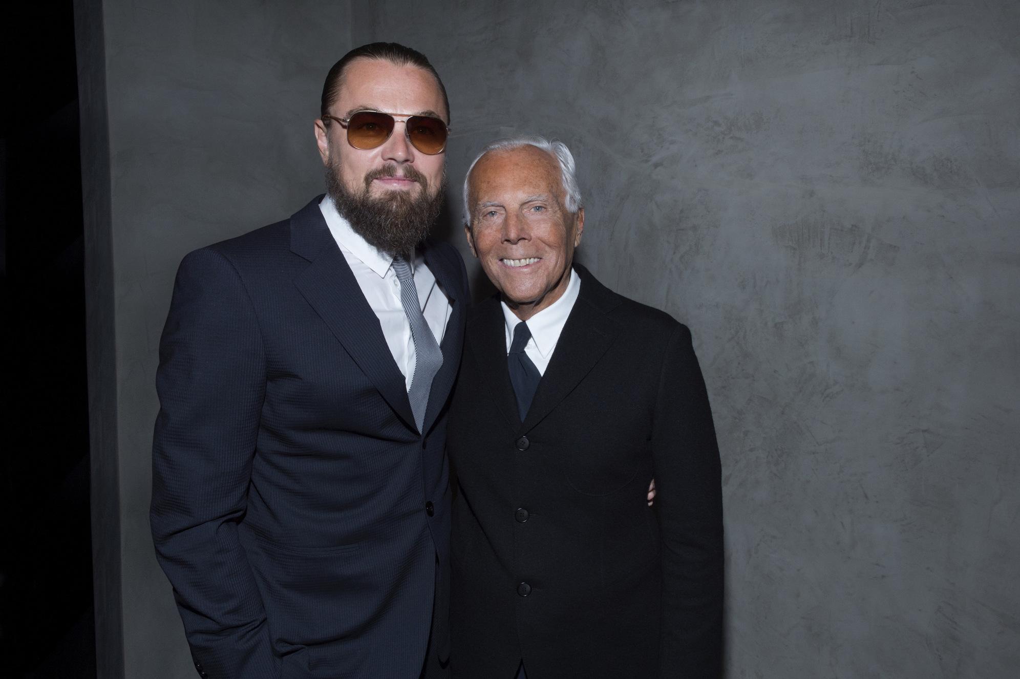 Leonardo DiCaprio, Chris Pine + More Attend Giorgio Armani 40th Anniversary Show