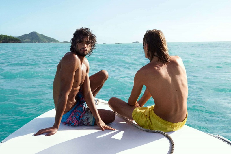 Marlon Teixeira and Ton Heukels steal a moment of relaxation.