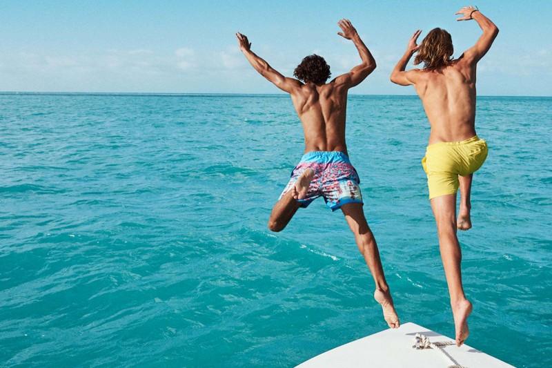 Marlon Teixeira and Ton Heukels take a leap.