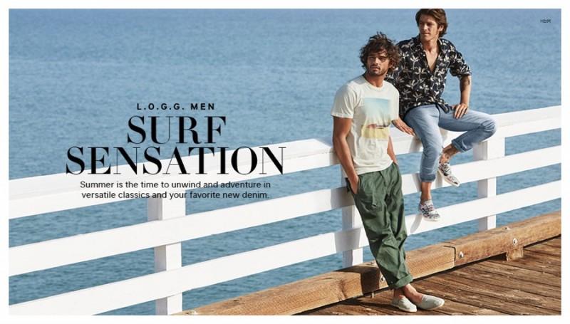 Surf Sensation Marlon Vinnie Model Summer Beach Looks For H M