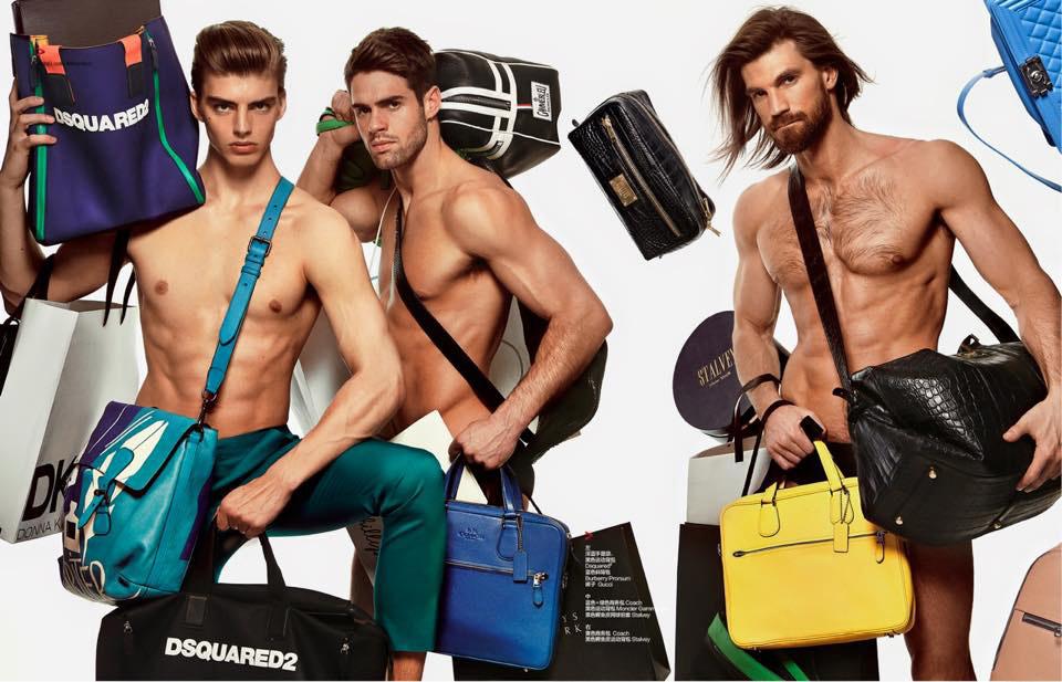 Chad White, Daan van der Deen & Henrik Fallenius are Shopaholics for Harper's Bazaar China