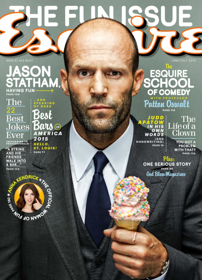 Jason Stathum covers Esquire's June 2015 issue.