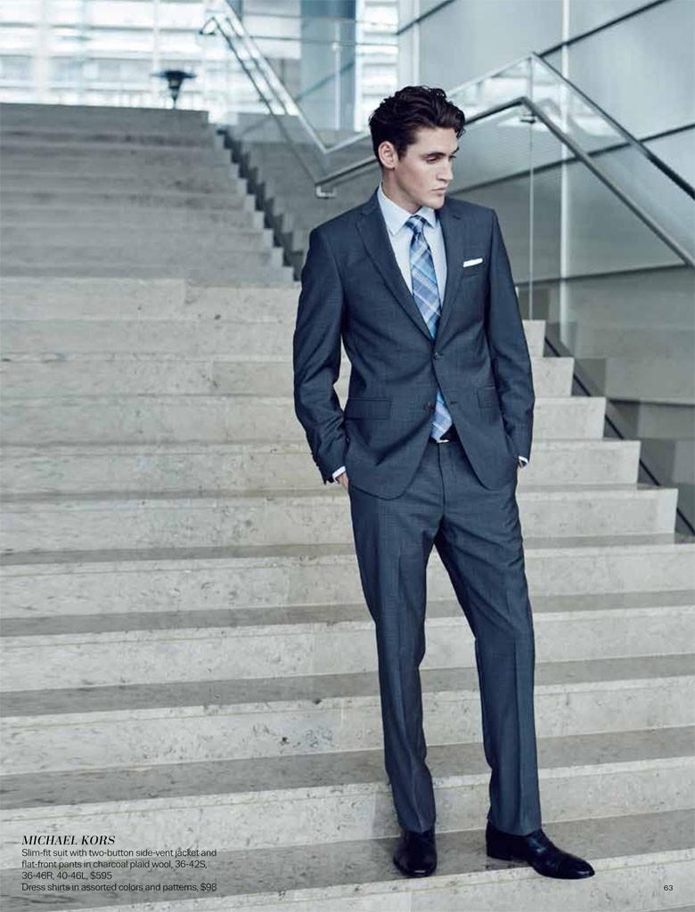 Isaac Carew Suits Up in Contemporary Styles for Lord & Taylor