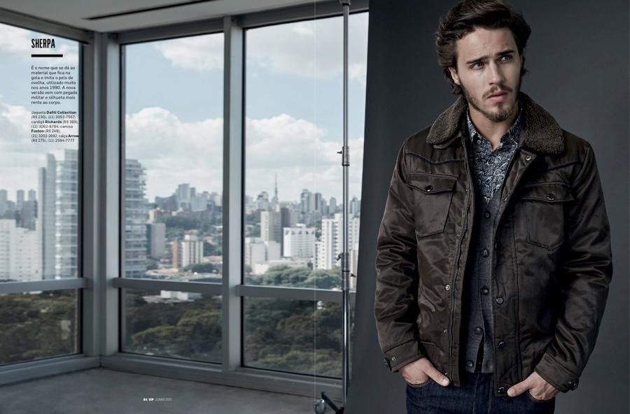 Lucas Medeiros Models Fall Outerwear for VIP Brazil Shoot