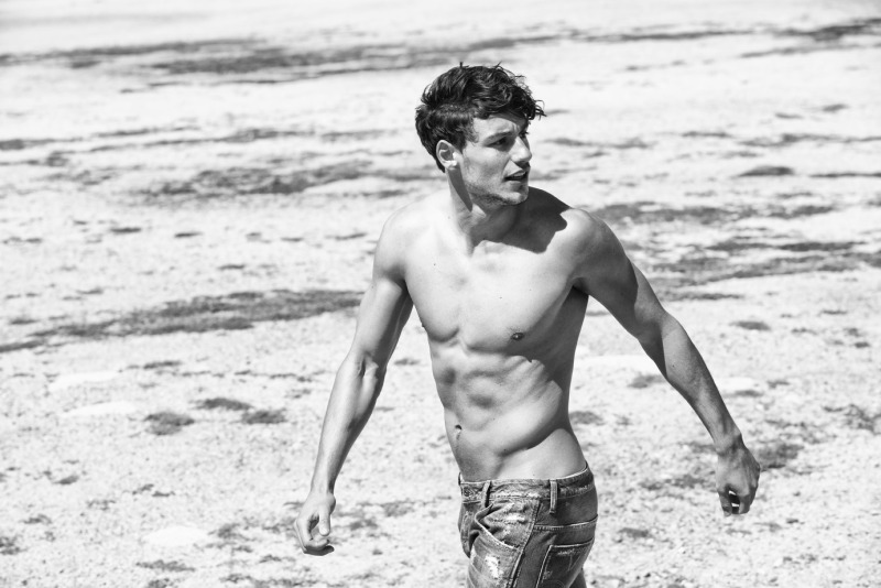 Going Shirtless In Denim Jeans Mariano Hits The Beach