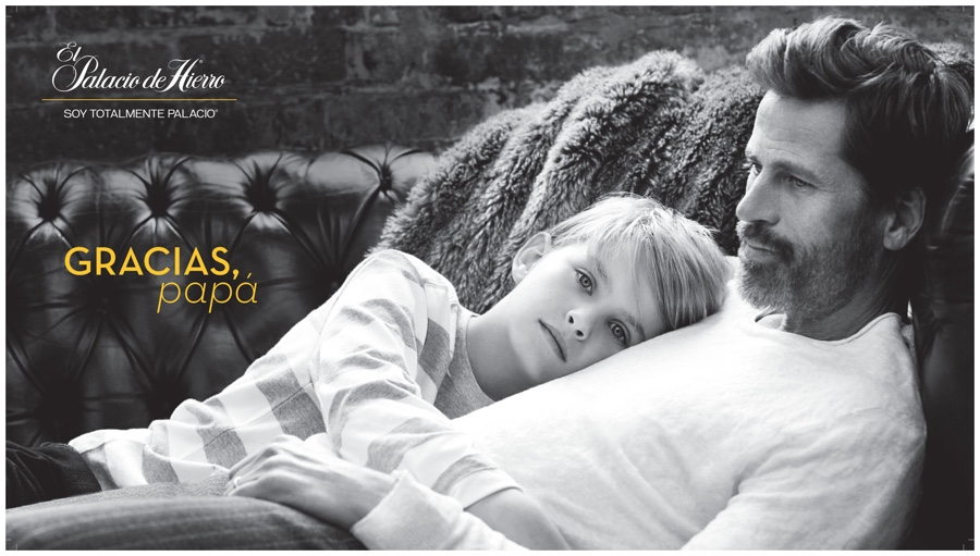Mark Vanderloo Poses with Son for El Palacio de Hierro Father's Day Shoot