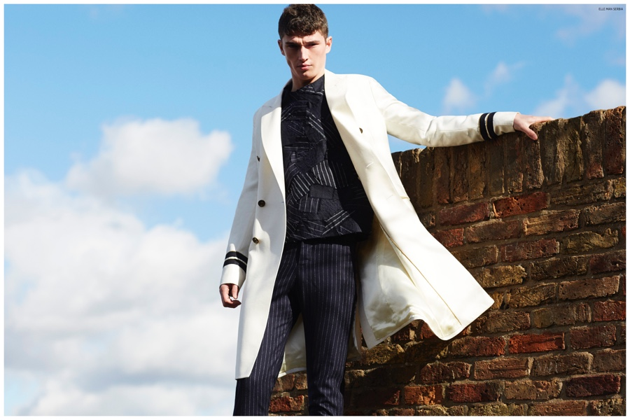 Paul Smith Shoots Matthew Holt for Elle Man Serbia Cover Shoot