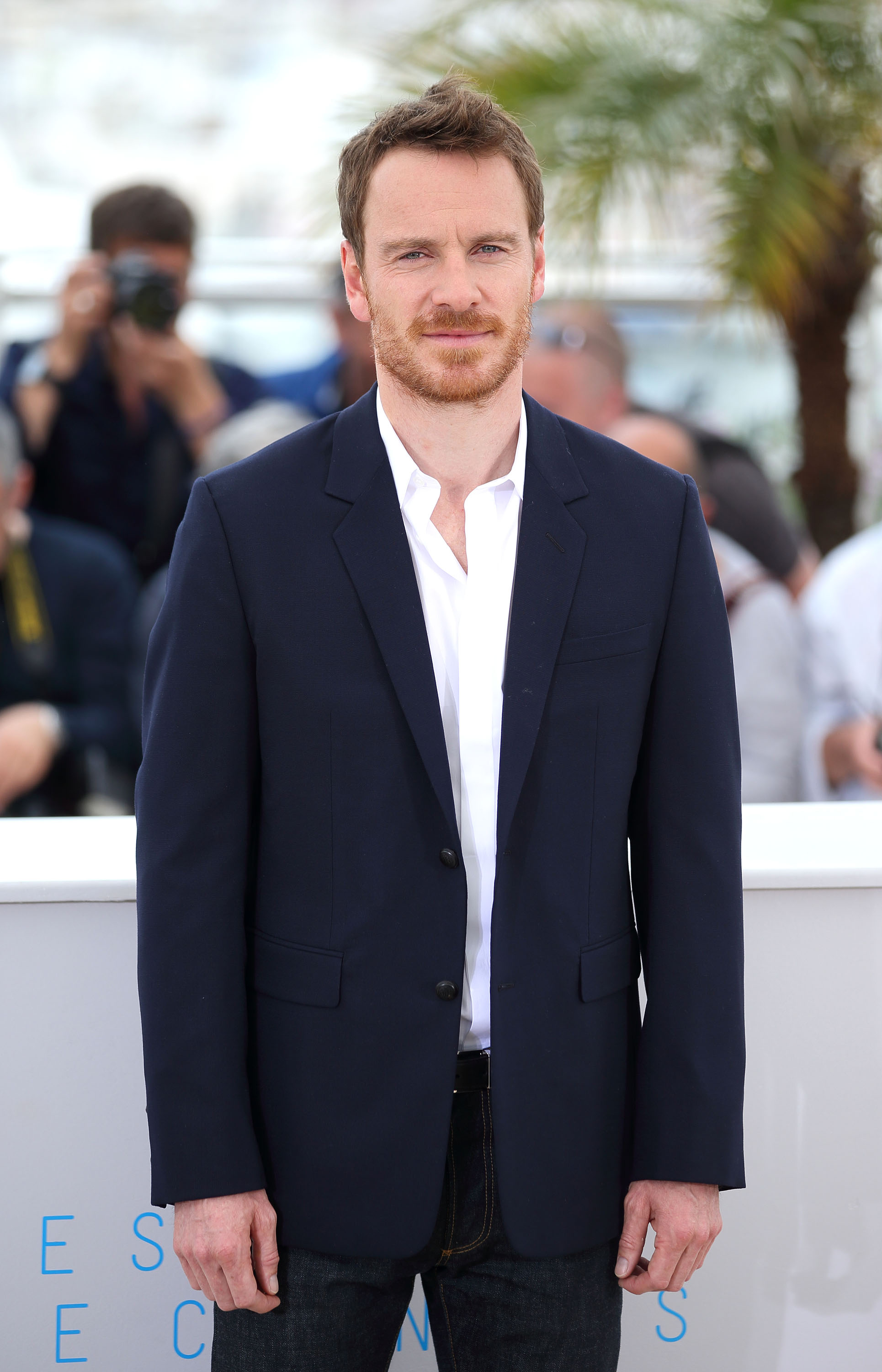 Michael Fassbender Wears Dior Homme at 2015 Cannes Film Festival
