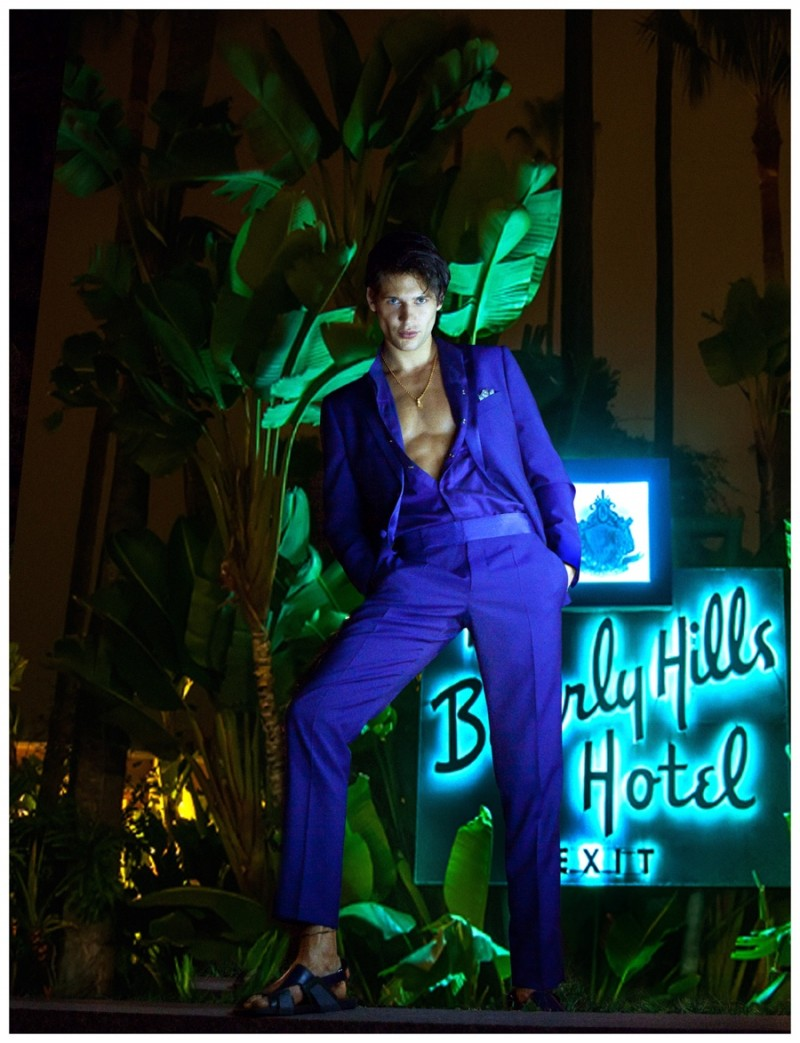 Milan cleans up in a striking blue suiting number.