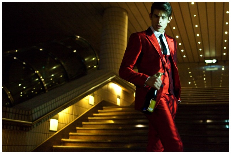 Milan is red hot in a silk suit.